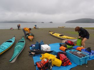 Many kayakers depart from Toquart Bay