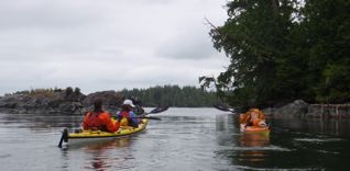 Paddling a gap on the south side of Walsh Island