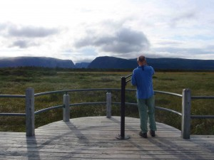 Looking into the mountain gap at Western Brook Pond, one of Gros Morne's most dramatic sights.