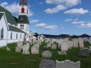Here's a view from Trinity itself. This famous fishing centre is one of Nfld's great historic sites, amazingly preserved and quite touristic (though not in September). We went to one of the many excellent theatrical performances put on here.