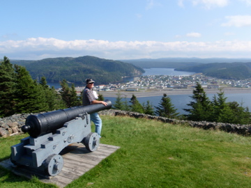 Overlooking Placentia on the Avalon Peninsula from Castle Hill.