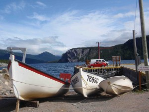 Waterfront scene at Rocky Harbour, the main community in Gros Morne Park