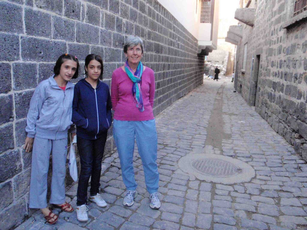 Our guides to a museum in this alley, Diyarbakir