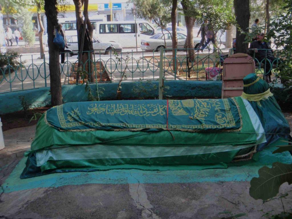 Open air Sufi sarcophagus outside City Wall, Diyarbakir